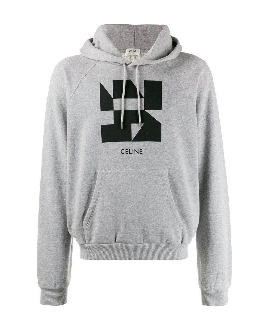 Celine Logo印花连帽卫衣 Celine Cloth Celine Graphic Sweatshirt Sweatshirts [ 1100 x 900 Pixel ]
