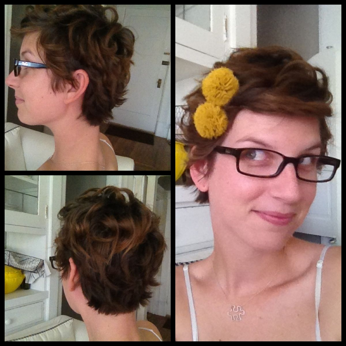 Some cute styles for growing out a pixie.