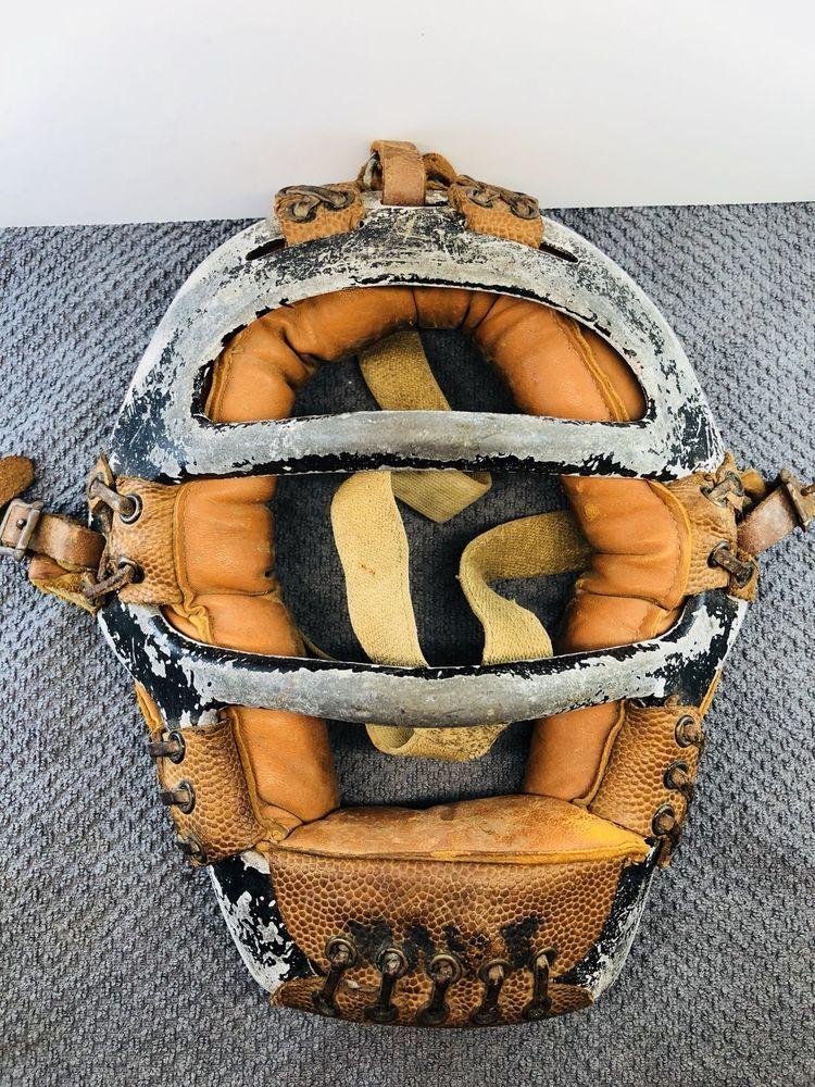 Vintage Trusport Baseball Catcher Umpire Mask Leather M80