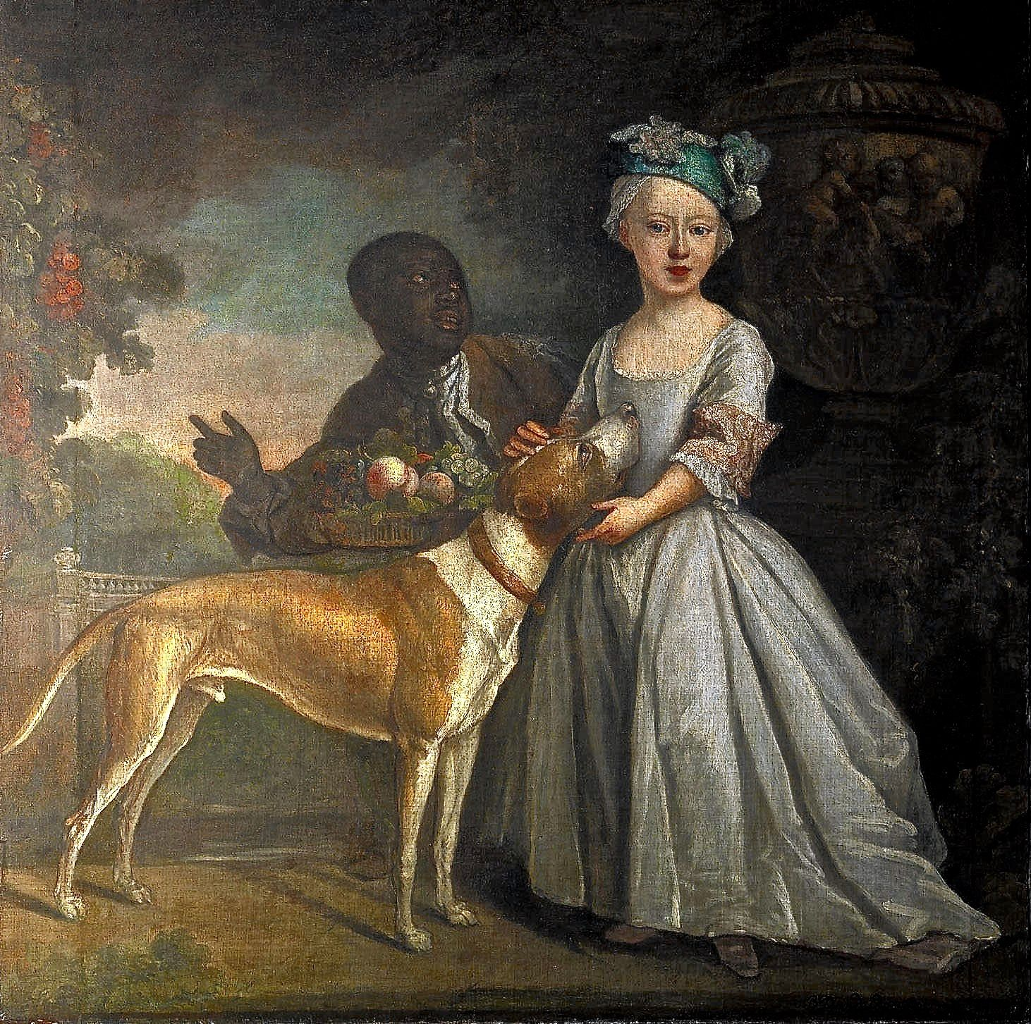 Bartholomew Dandridge (A Young Girl with a Dog and a Page