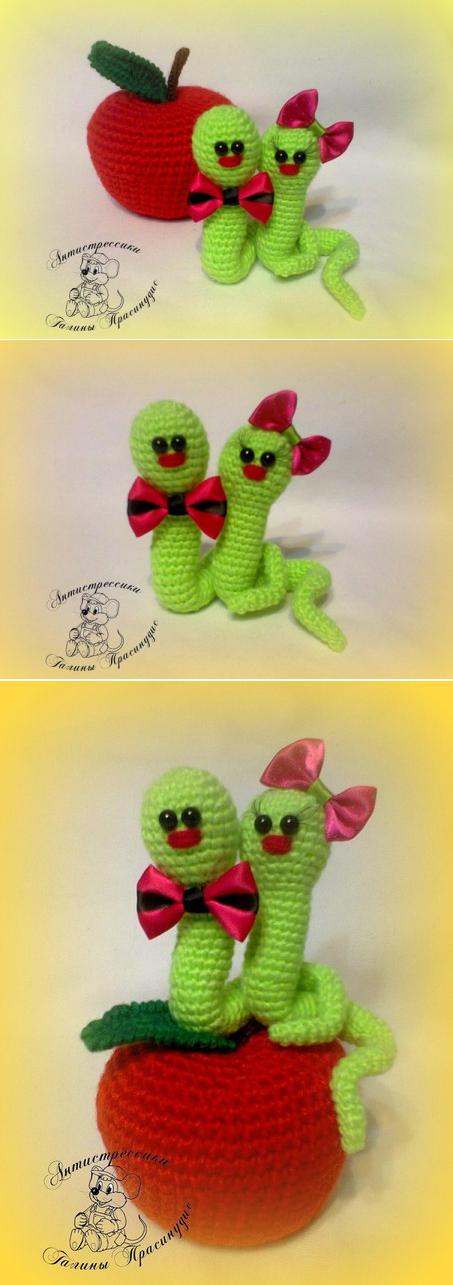 La pareja de los gusanos alegres - Veniamín y Zosya. | Amigurumis ...