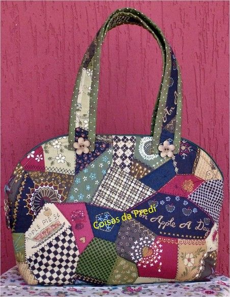 Esta bolsa necessaire | Bolsos en Patchwork | Pinterest