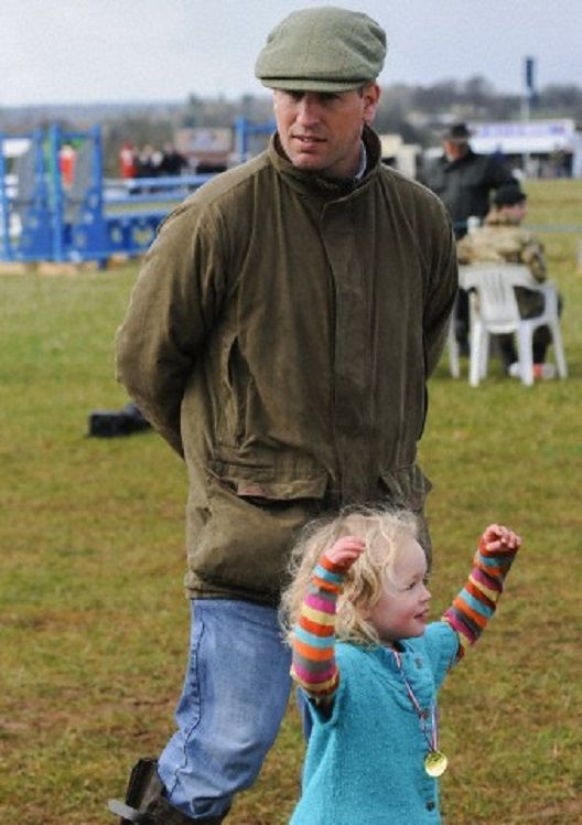 Peter Phillips with his daughter Savannah at the Gatcombe ...