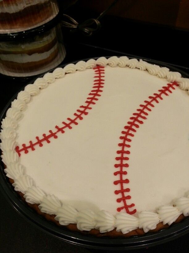 Baseball Cookie Cake By Tiffany At Belton Price Chopper Cookies