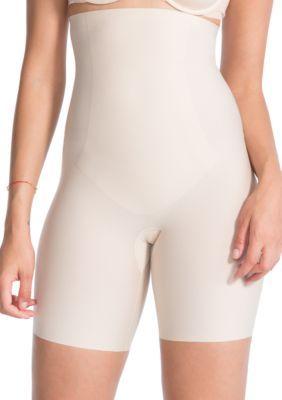 51cf804a27 Spanx Women s Plus Size Thinstincts High-Waisted Mid-Thigh Shorts - 10006P  - Tan Khaki - 1X
