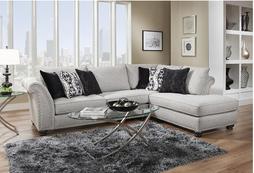 Incredible Hot Buy Albany Avanti Platinum Sectional Sofa Shabby Gmtry Best Dining Table And Chair Ideas Images Gmtryco