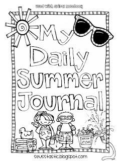 Free summer journal cover-sized for composition or spiral