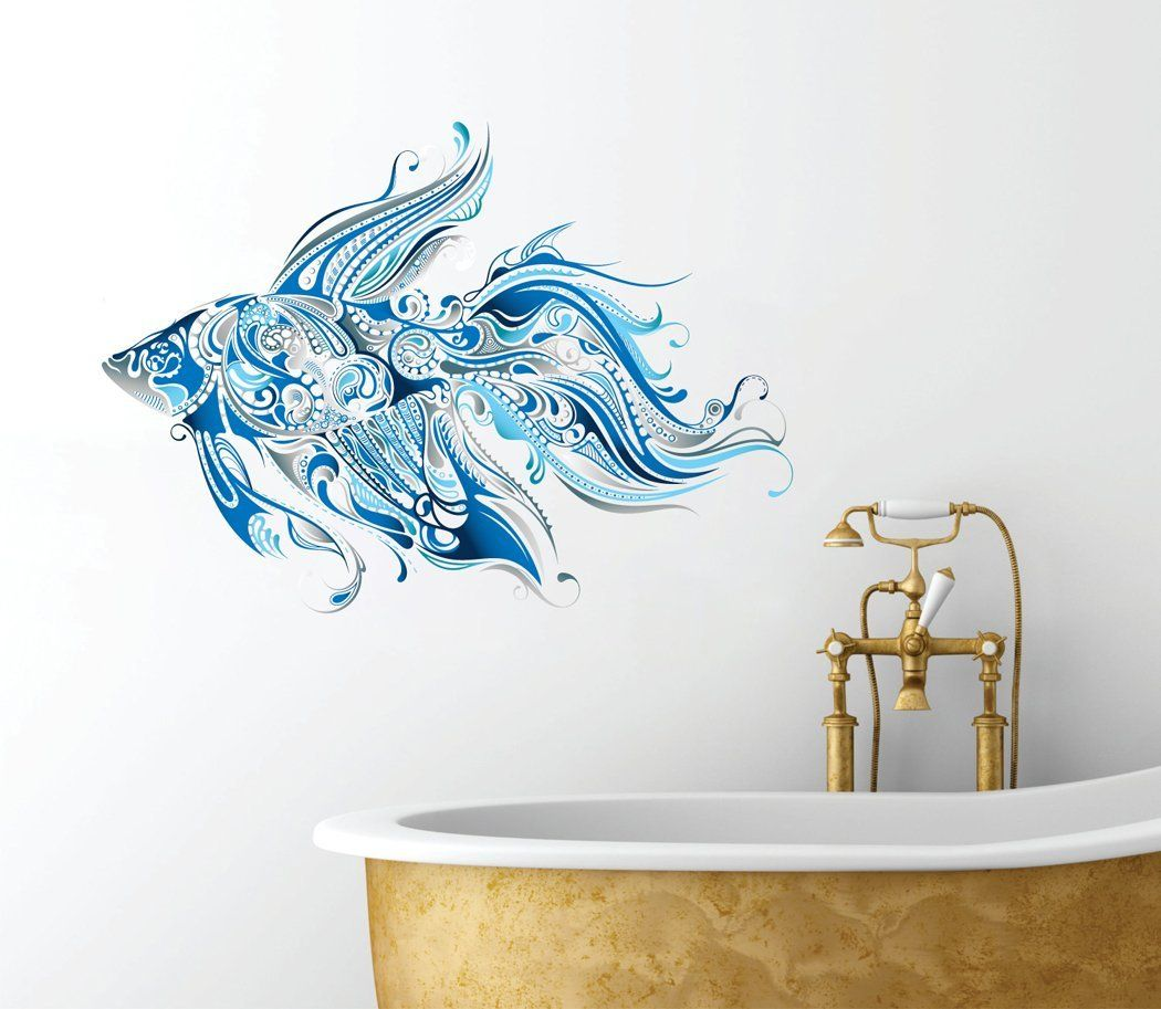 Superbe Amazon.com   Fancy Fish Design   Beautiful Ocean Inspired   Bathroom Wall  Decal