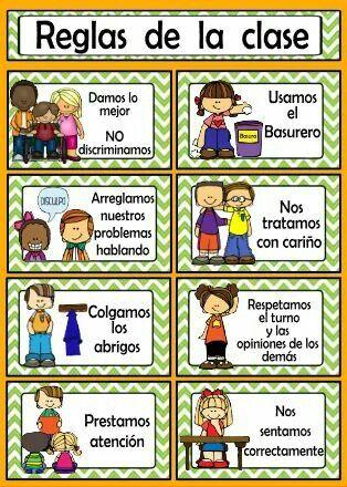 Pin De Pierina Varas En Nuevo Programa De Preescolar Normas Del Aula Reglas De Clase Educación Bilingüe