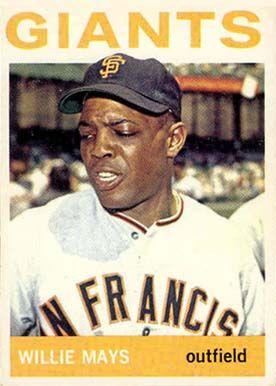 1964 Topps Willie Mays 150 Baseball Card Value Price Guide Baseball Card Values Willie Mays Baseball Cards