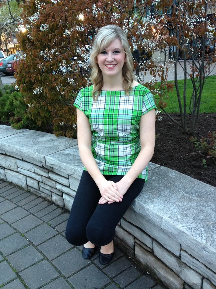 Adorable tunic! #macrae #green #tartan