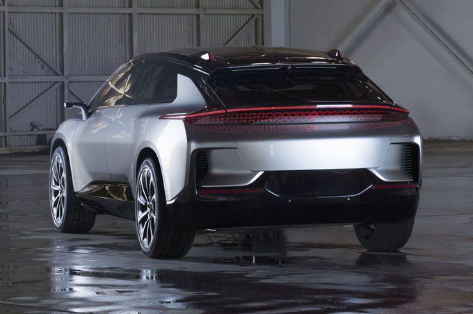 Faraday Future Ff91 Rear View Faraday Future New Cars Future Car