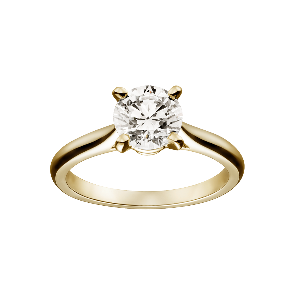 solitaire 1895 engagement rings yellow gold diamond fine engagement rings for women - Wedding Rings Gold