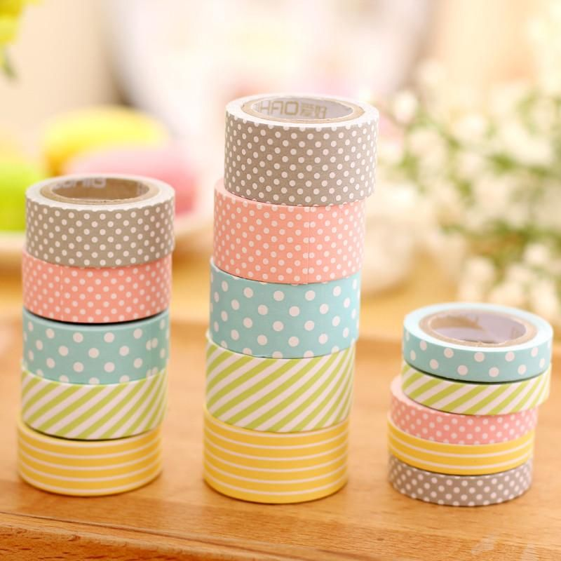 Lovely Nature Color Series Sticker Label Tape Adhesive Tape Kid DIY Supplies