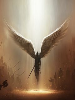 Angel Of Warrior Wallpaper For Cellphone From Games Download Free Angel Wallpaper Angel Warrior Archangels