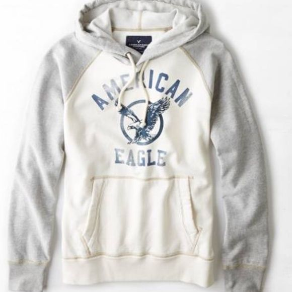 New American Eagle Mens Raglan Hoodie , Medium NWT