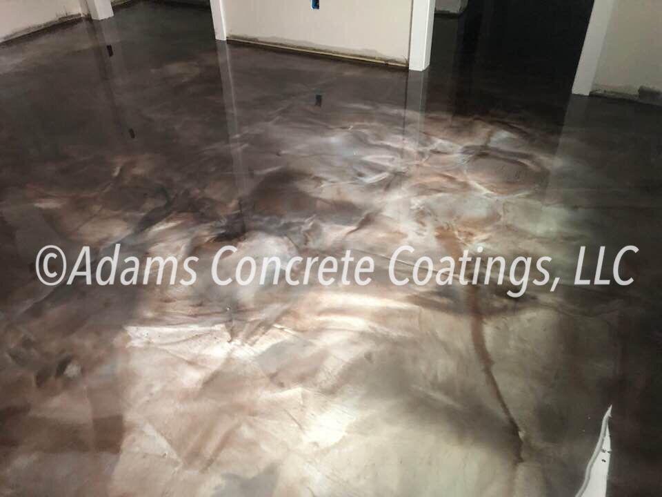 Reflective Epoxy Custom Floor Flooring Concrete Coatings Metallic Epoxy Floor