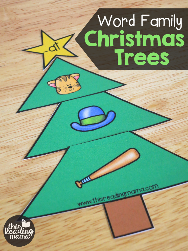 Short Vowel Word Family Christmas Trees | Short vowels, Family ...