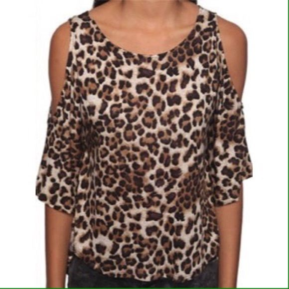 F21 Leopard Cold Shoulder Top BRAND: Forever 21  SIZE: Small  CONDITION: New without tags  FEATURES: - Leopard print. - Gauzy, slightly sheer material. - Cold shoulders. - Sleeves hit just above elbow.  MEASUREMENTS (flat and unstretched): Bust - 19 inches  Waist - 16.5 inches  Length - 25.5 inches Forever 21 Tops Blouses