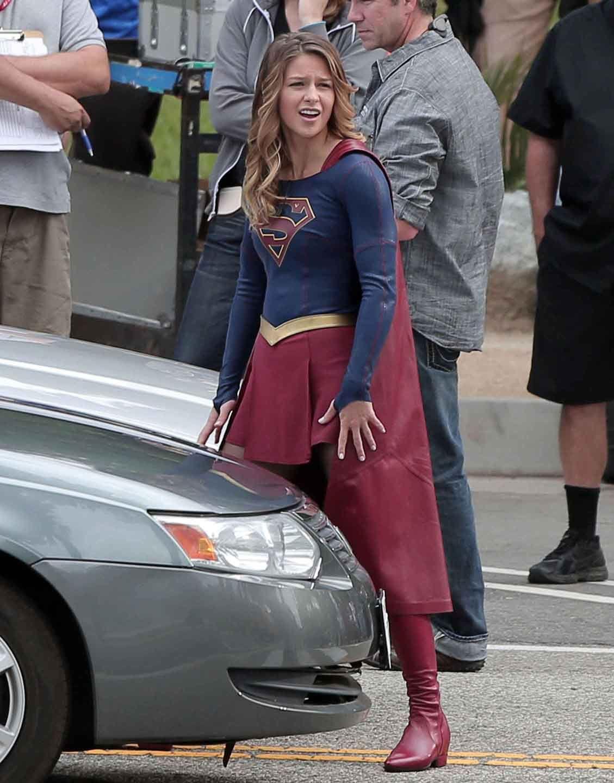 Park Behind The Scenes Supergirl Melissa Benoist Melissa