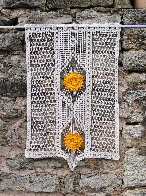 Rideau En Dentelle Et Filet De Crochet Et Points Multiples
