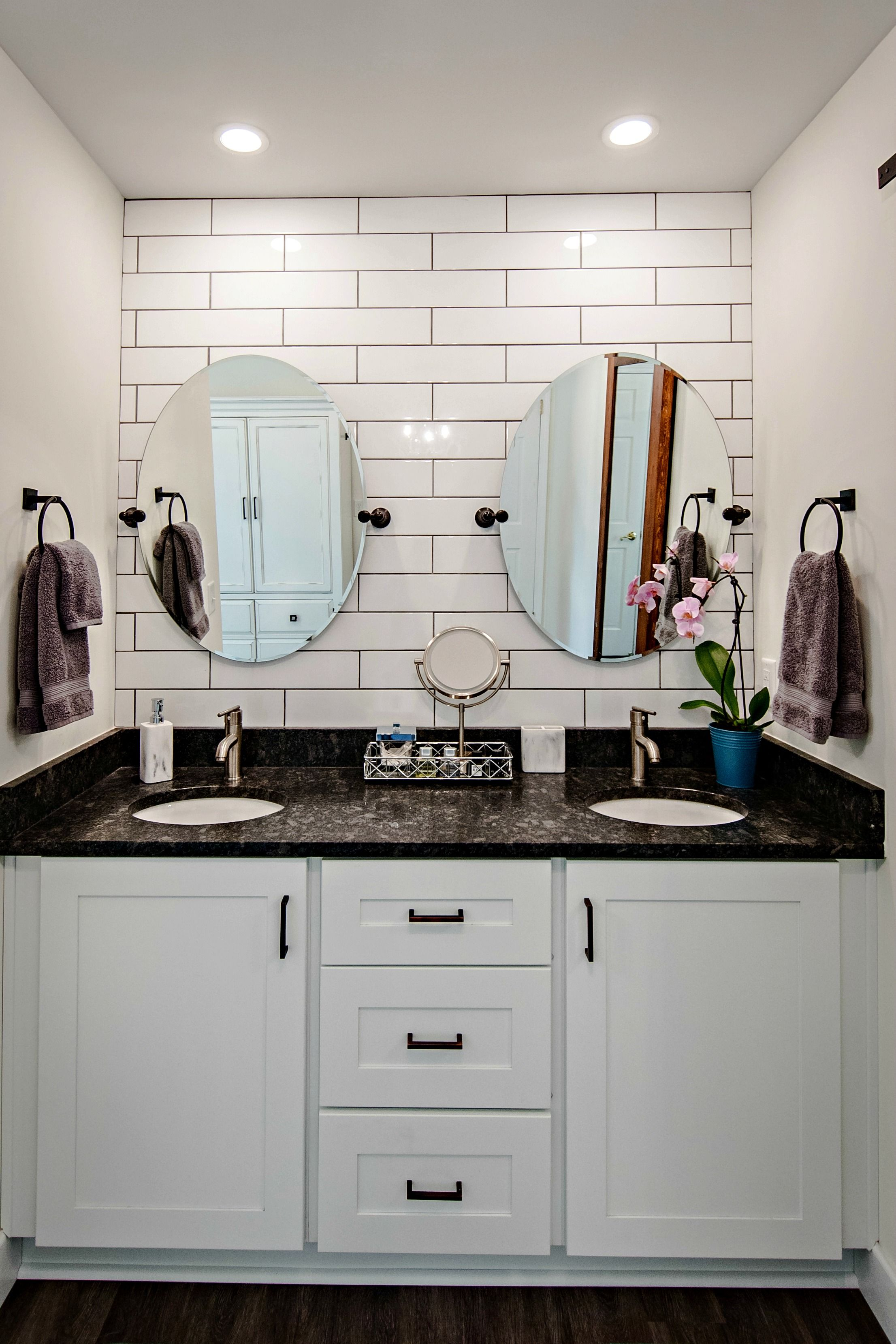 This Jacksonville FL farmhouse chic master bath came in on