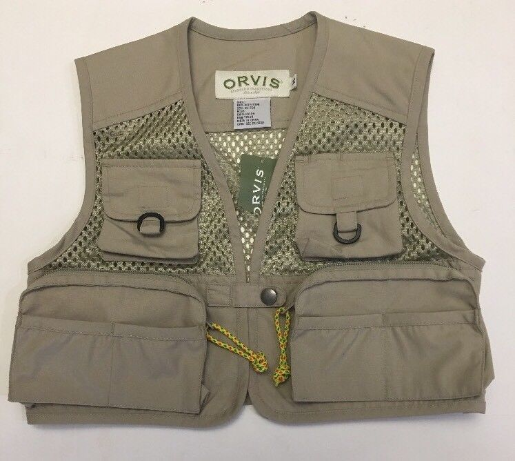 Orvis Youth Fishing Outdoor Vest Kids Size M NWT eBay