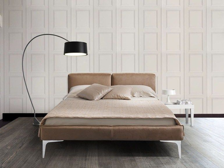 DOUBLE BED WITH UPHOLSTERED HEADBOARD SYMPHONY COLLECTION BY VALMORI