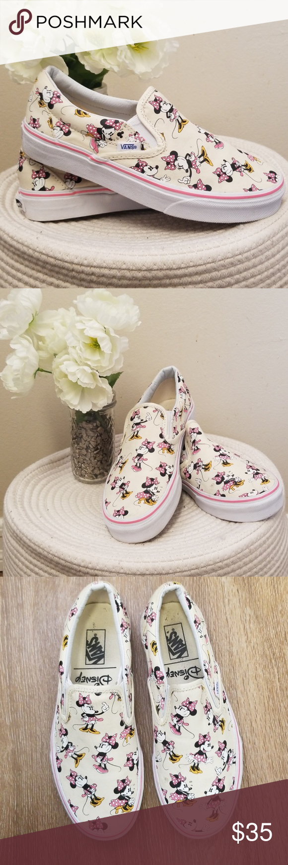 e4e43cf0794 LIMITED EDITION  MINNIE MOUSE  DISNEY VANS Special Release Disney Classic  Slip-Ons - Minnie Mouse Edition! These have only been worn once! Vans Shoes  ...