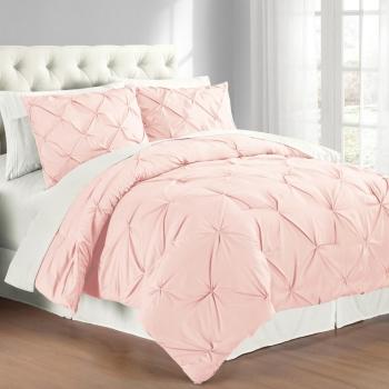 Premium Collection Full Queen Pintuck Bedding Comforter Set