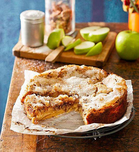 Gluten free apple and walnut pie