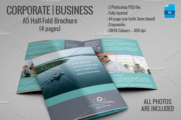 A5 Half Fold Brochure 4 Pages Brochures Corporate Brochure And