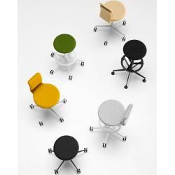 Lapalma Lab S73 bar stool lacquered black soft leather (specify color in comment field) LaPalma