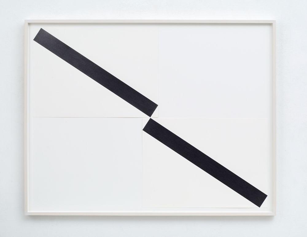 Frank Gerritz, To Drop A Line (Diagonal Connection), 2017, Bleistift auf Papier, 2-teilig, jeweils 42 x 58,8 cm