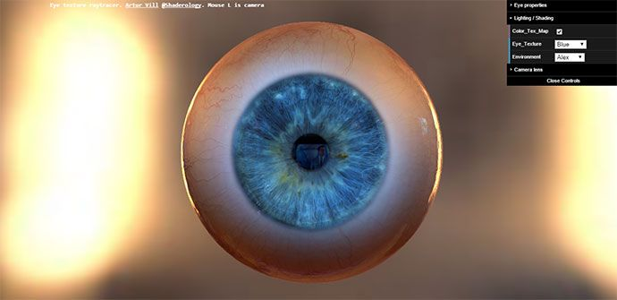 20 Cool Interactive WebGL Examples | WebGL | Eye texture, Web design