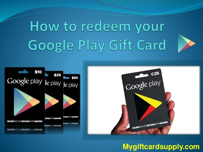 Its very easy to redeem your google play gift card just