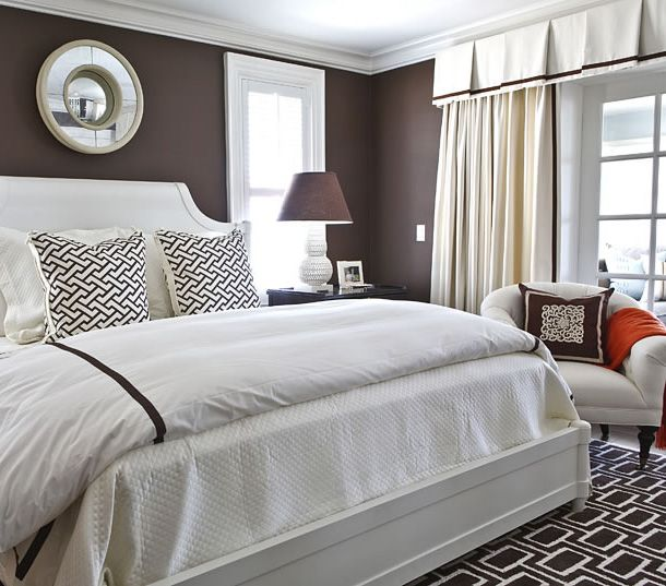 modern brown white bedroom. Interior Design Ideas. Home Design Ideas