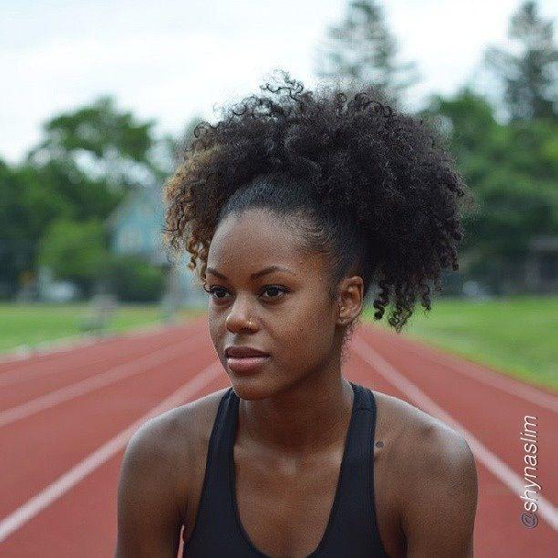 Sporty Natural Hair In 2019 Natural Hair Styles Hair
