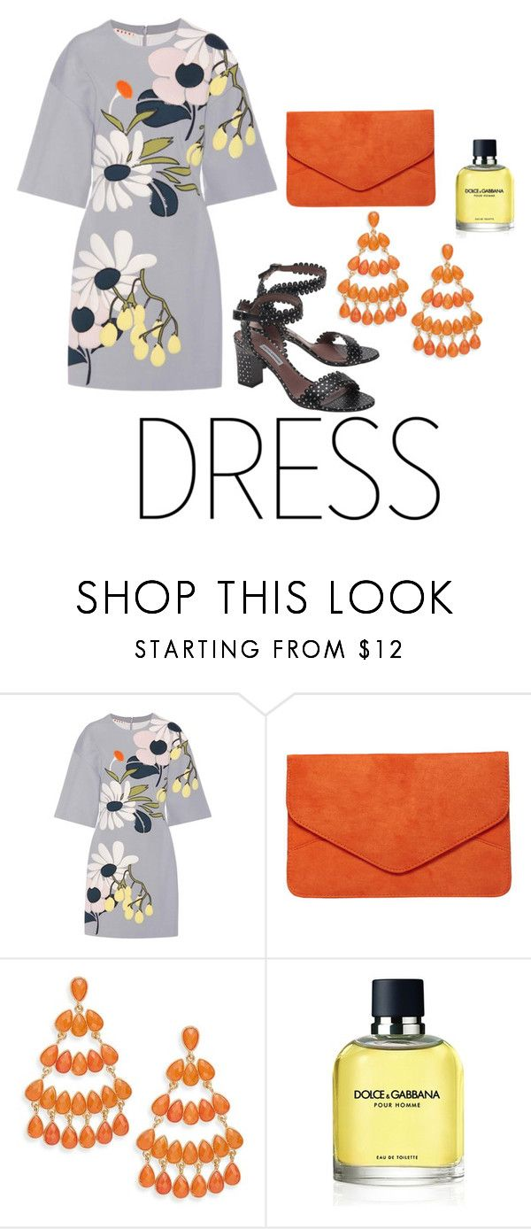 """#offshoulderdress"" by mary-oggiwork ❤ liked on Polyvore featuring Marni, Dorothy Perkins, Kenneth Jay Lane, Dolce&Gabbana, Tabitha Simmons and offshoulderdress"
