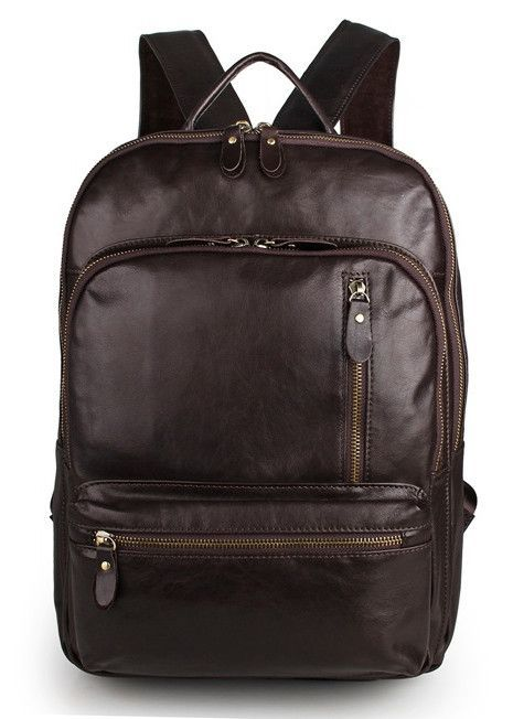 Multi Compartment Leather Book Bag