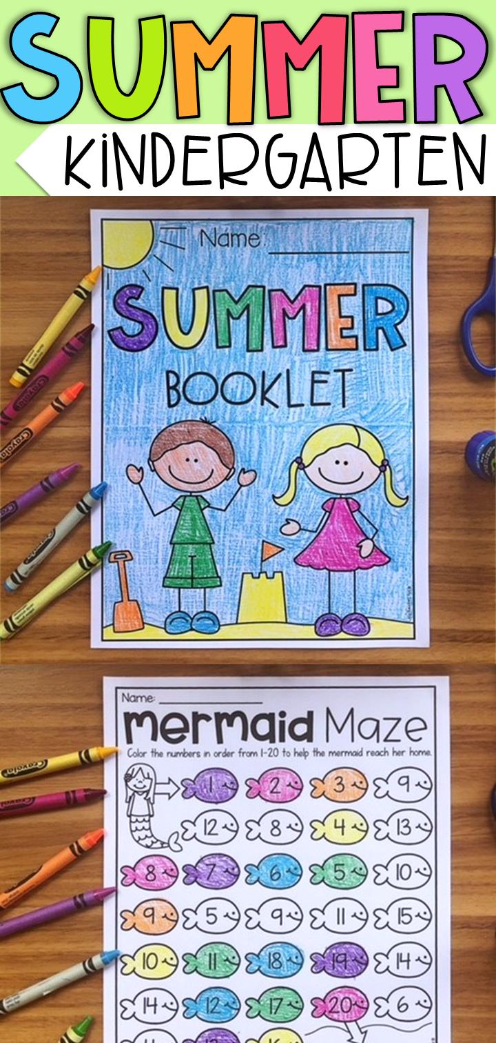 End of Year Kindergarten Booklet - Summer Themed Worksheets | My TPT ...