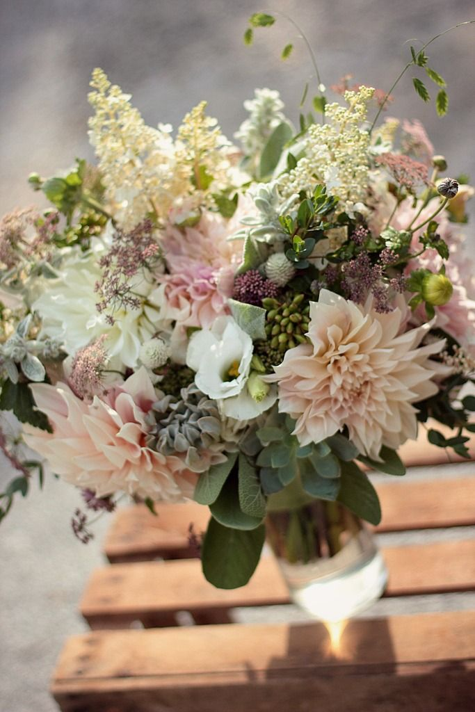 August With Dahlias And Succulents More Wedding Colors