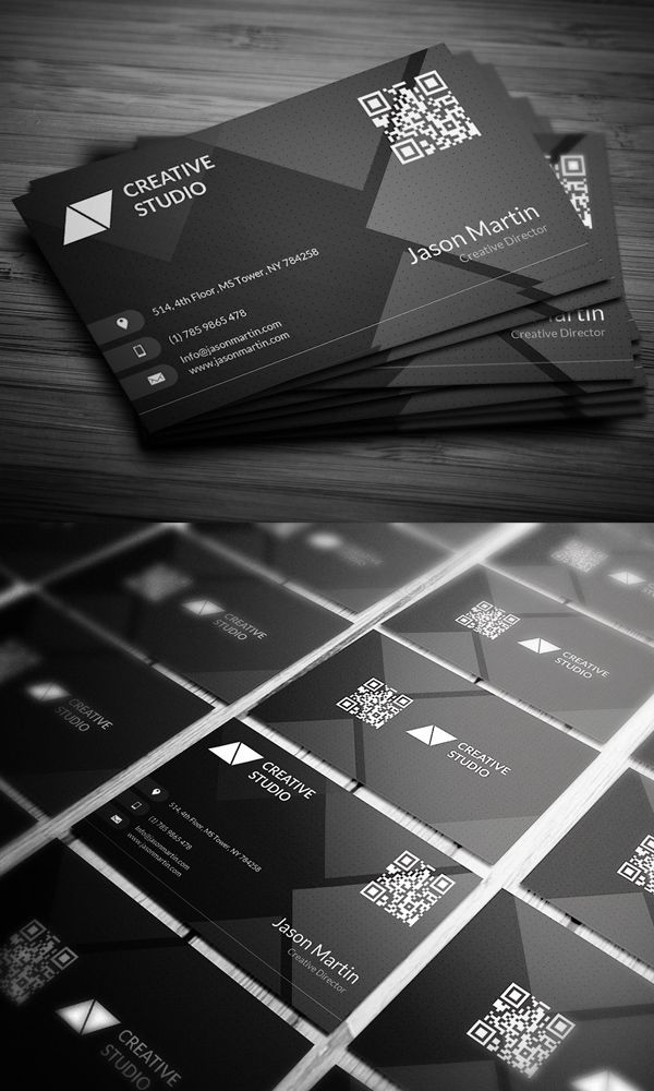 Dark Corporate Business Card | Graphic amazing | Pinterest ...