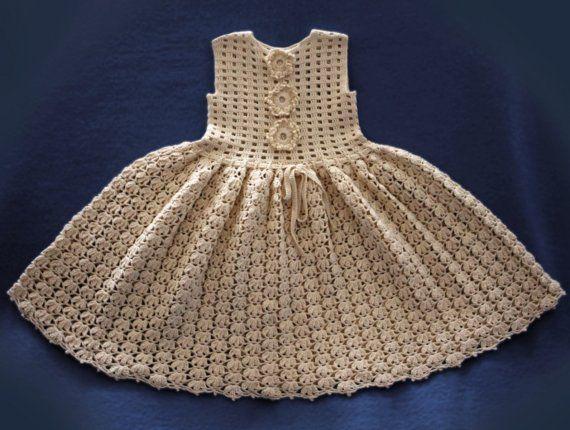 Baby Dress Crochet Pattern Vintage Via Etsy Crochet Pinterest