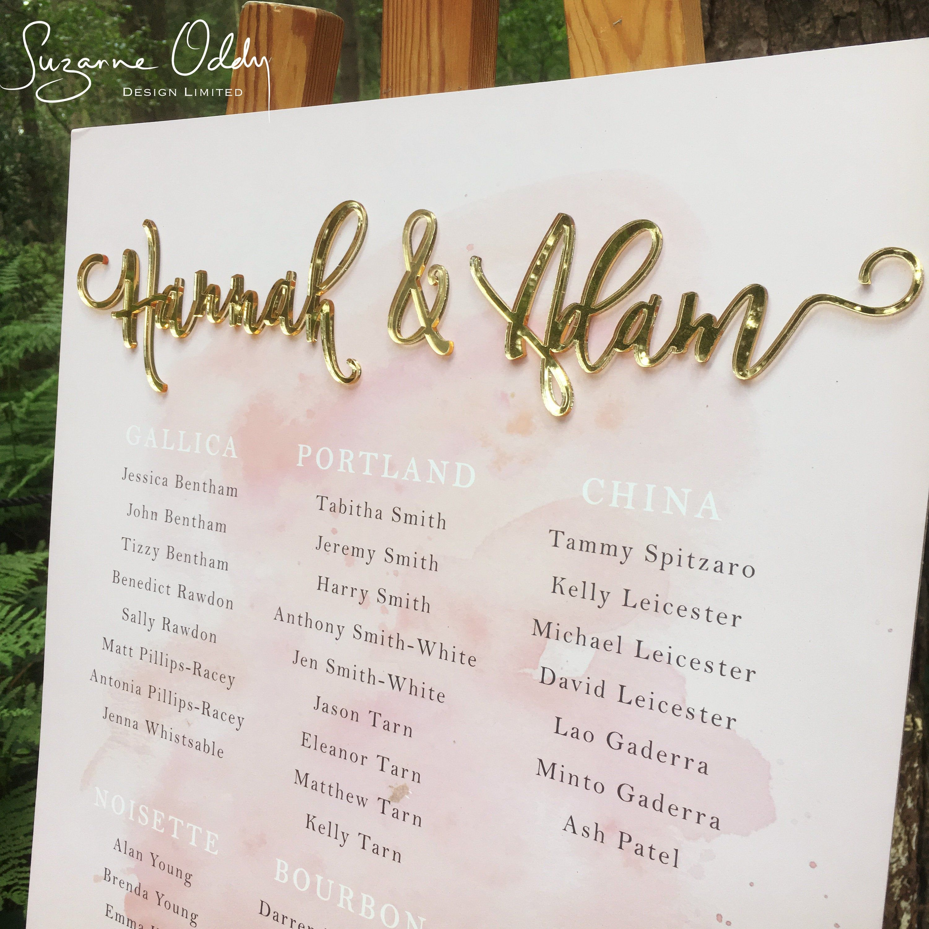 Blush Pink And Gold Table Chart Seating Plan Wedding Wedding Table Plan Wedding Seating