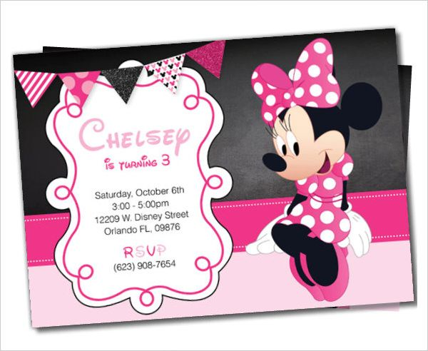 awesome minnie mouse invitation template - 21+ free psd, vector, Invitation templates