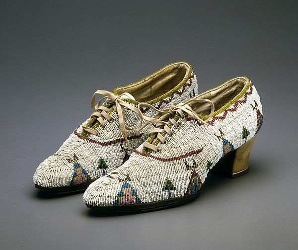 the most amazing beaded shoes from the plains indians show at the met