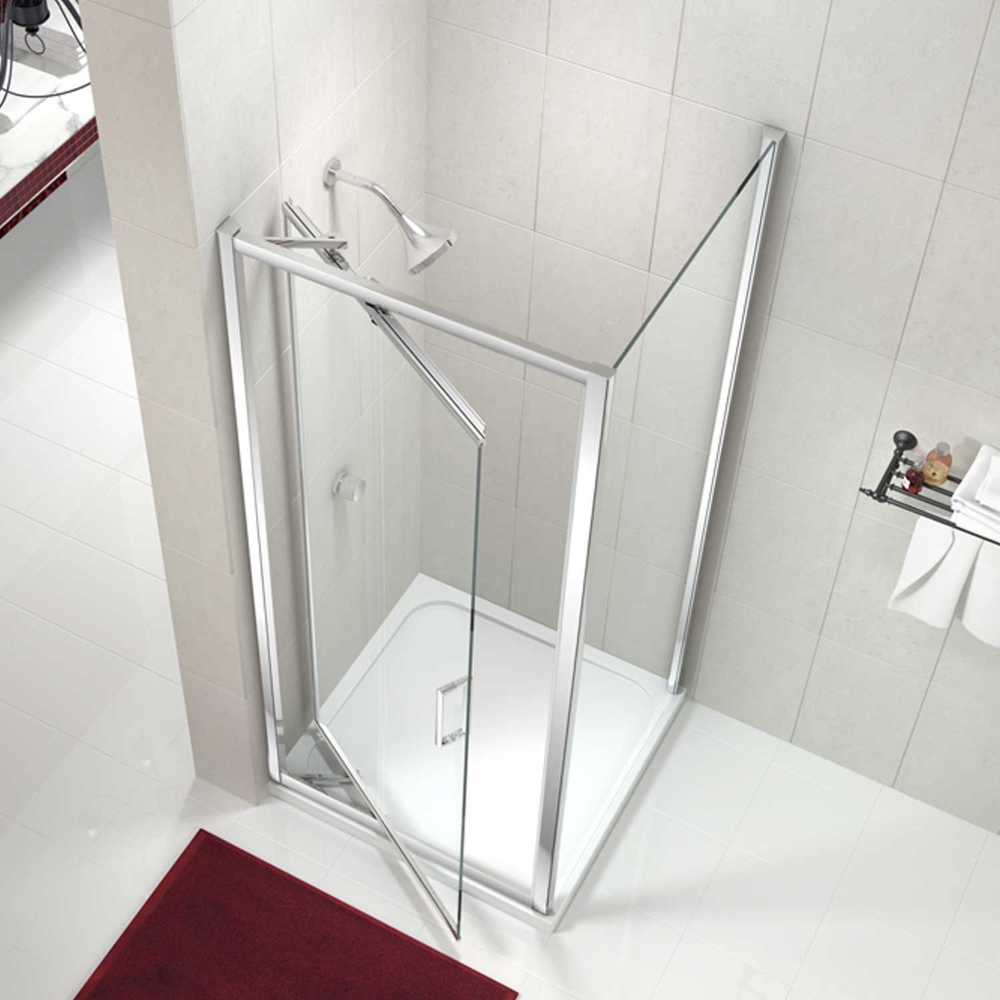 Merlyn 8 Series Pivot Shower Door M84431 1000mm Chrome Clear In 2020 Shower Doors Panel Siding Shower
