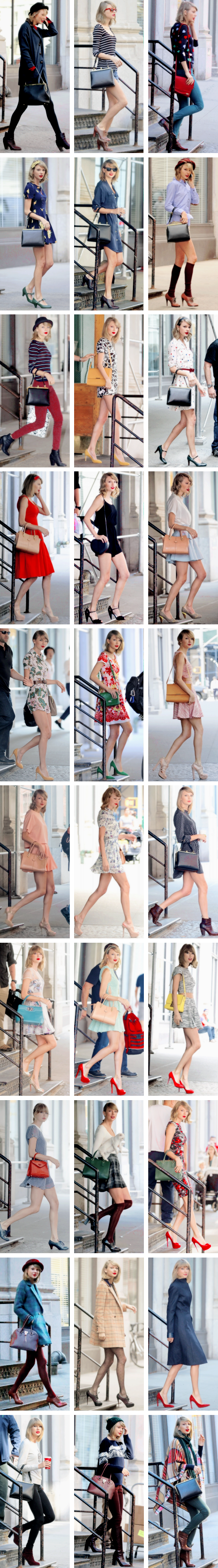 A Taylor Swift fashion collage ♥♥♥♥♥