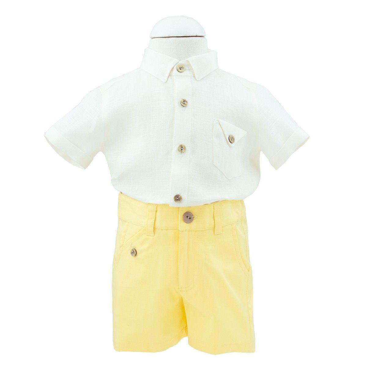 fa03a99a4 Conjunto para bebé beige amarillo de Kiriki